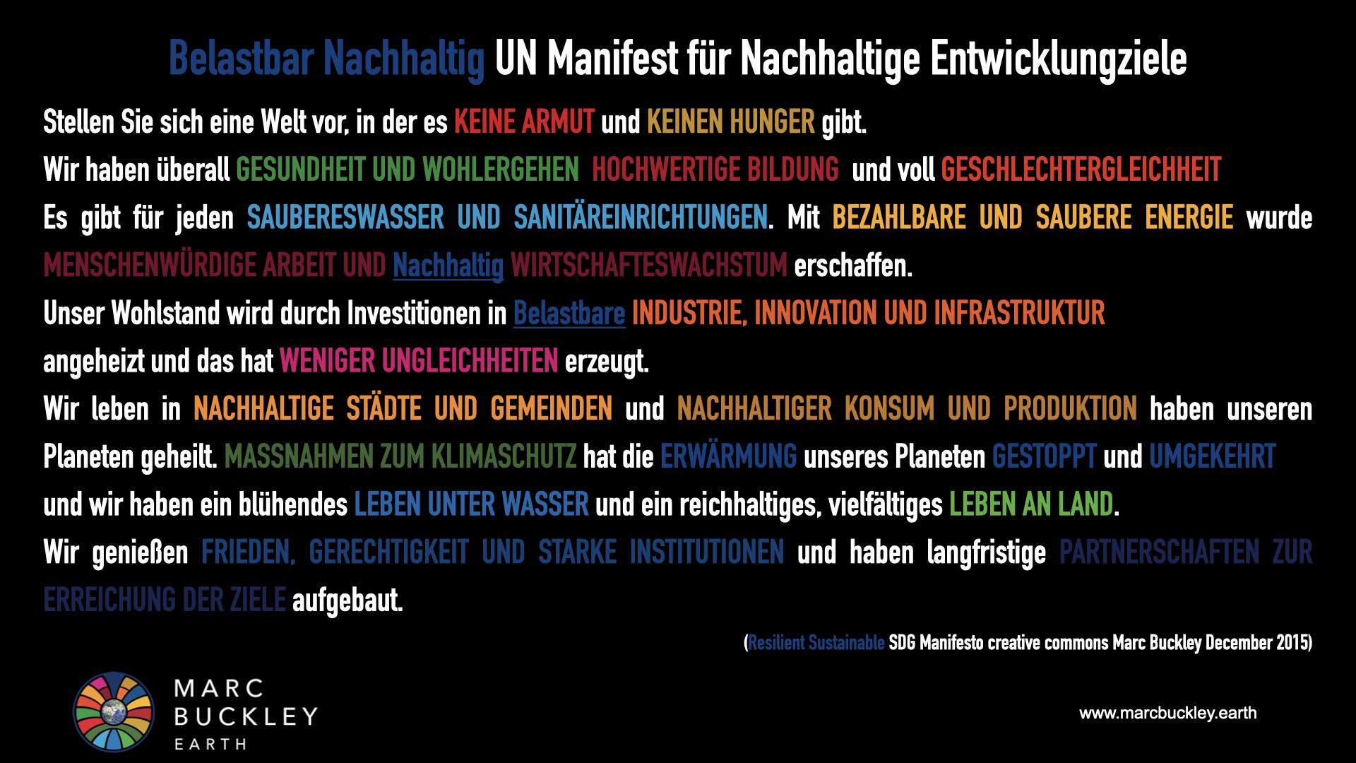 German SDG Manifesto Black